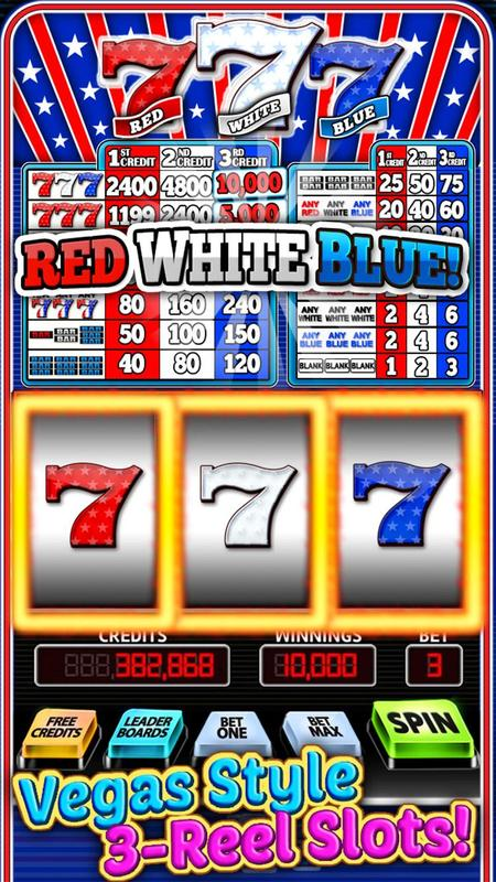 Red White And Blue 7 Free Slots